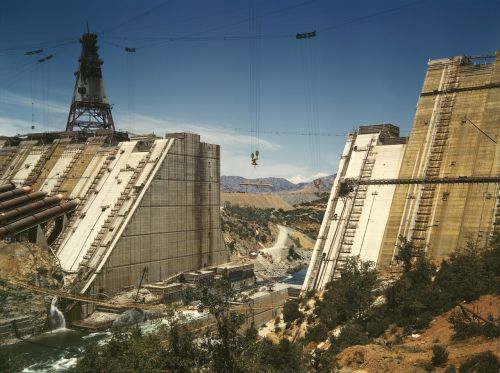 dam shasta dam construction