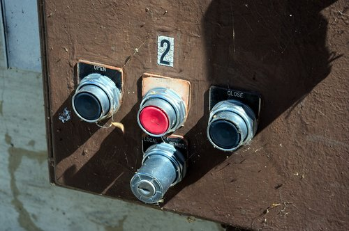 dam valve controls  pushbutton  button