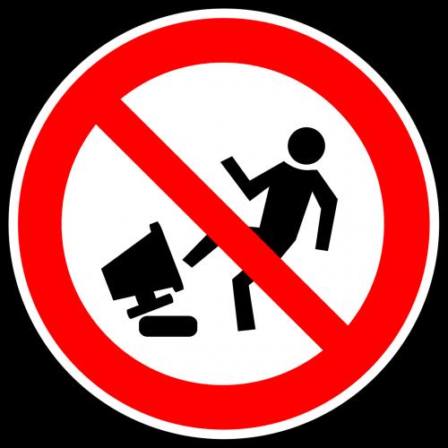 damage warning danger