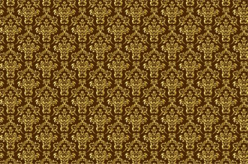 Damask Background Gold, Brown