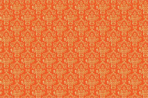Damask Background Gold Orange