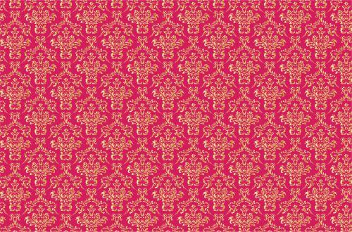 Damask Background Gold, Pink