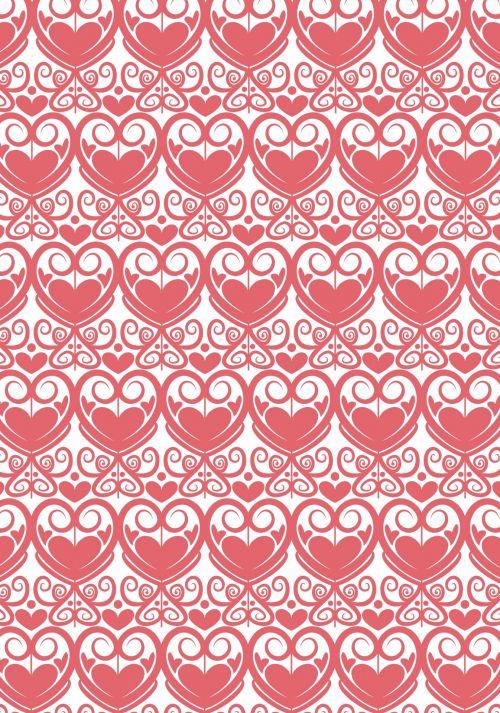Damask Heart Pattern