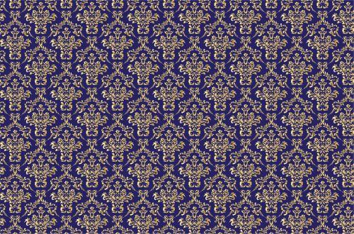 Damask Pattern Background Gold