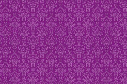 Damask Pattern Background Purple