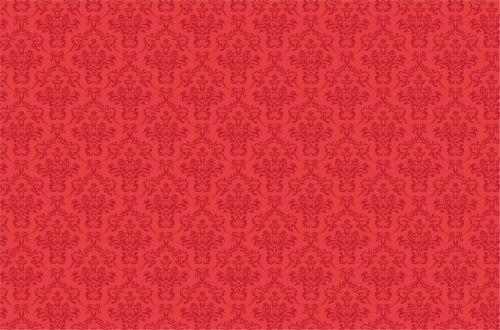 Damask Pattern Background Red
