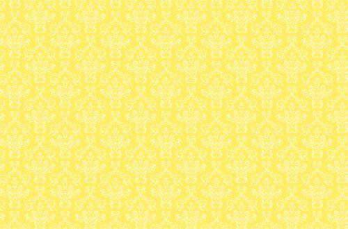 Damask Pattern Background Yellow