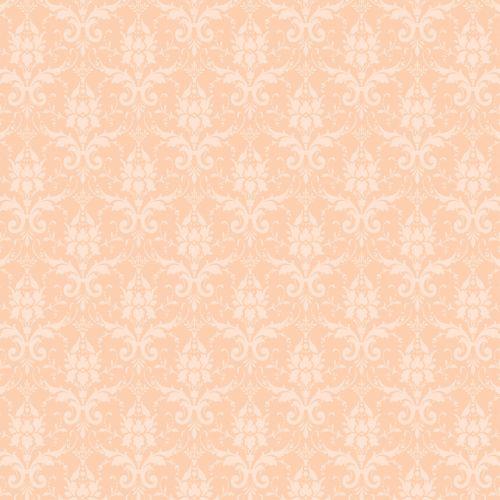 Damask Pattern Wallpaper Peach
