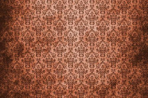 Damask Vintage Background Brown