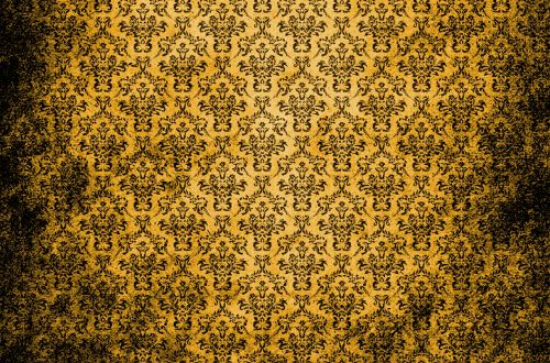 Damask Vintage Background Gold