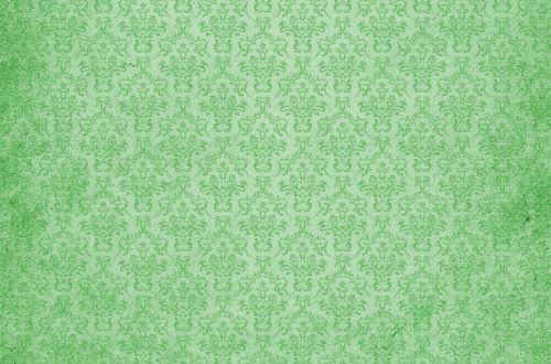 Damask Vintage Background Green
