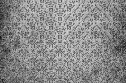 Damask Vintage Background Grey