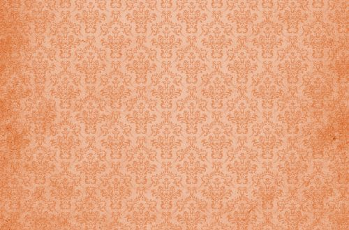 Damask Vintage Background Orange