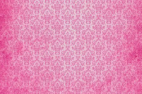 Damask Vintage Background Pink