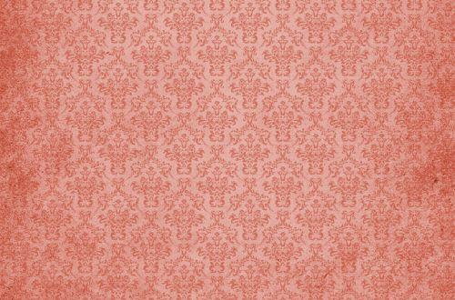 Damask Vintage Background Red