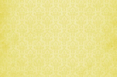 Damask Vintage Background Yellow