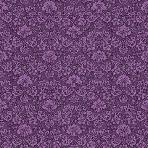 Damask Vintage Wallpaper Purple