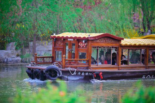 daming lake pleasure boat shade