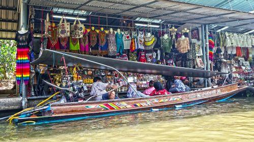 damnoen saduak floating market thailand bangkok