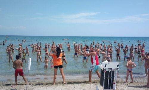 dance beach people group