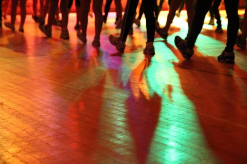 dance silhouette lighting effects