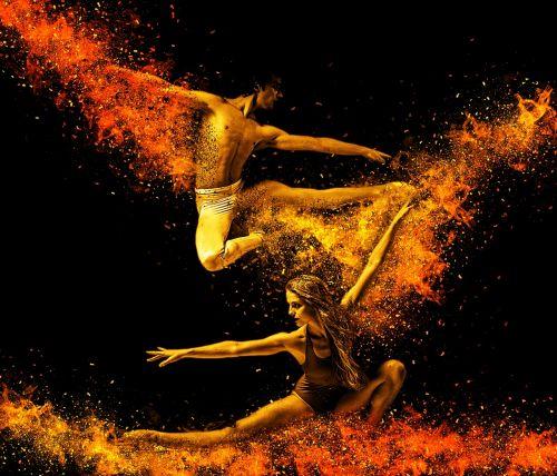 dancers acrobats pair