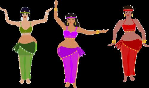 dancing women oriental