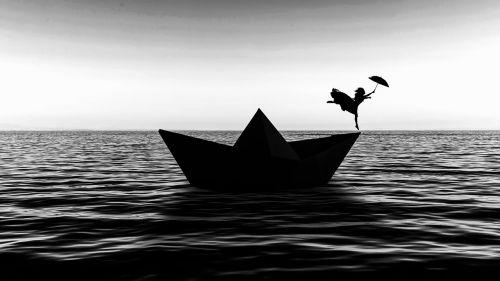 dancing origami ocean