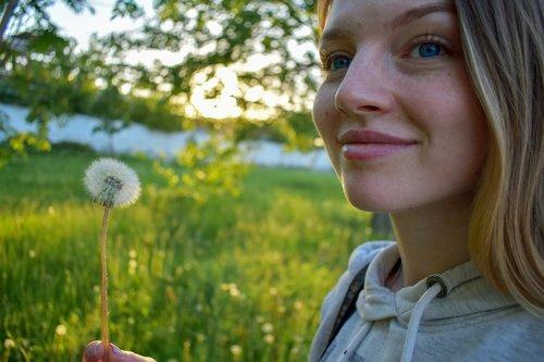 dandelion  girl  beautiful