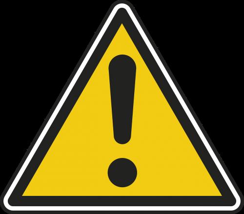 danger panel road sign