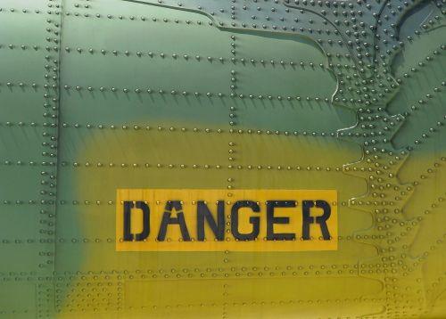 danger military aircraft metal