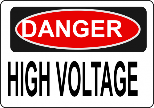 danger electric voltage