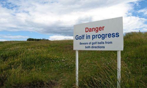 danger golf balls