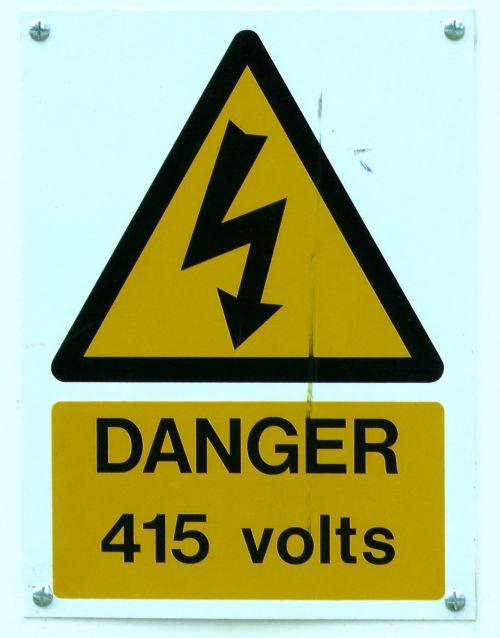 Danger 415 Volts Sign