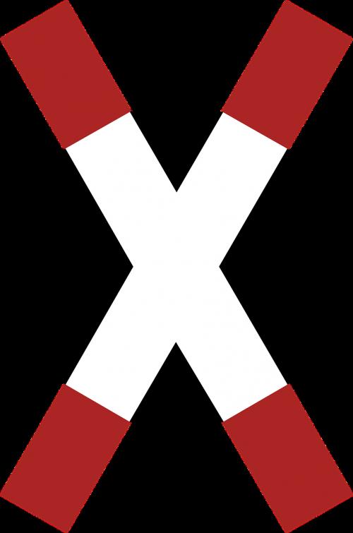 danger warning cross