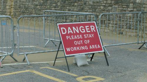 Danger Area Sign
