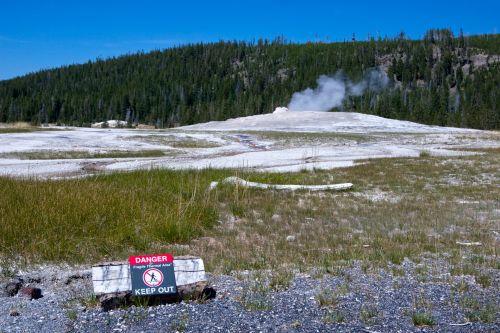 Danger At Old Faithful Geyser
