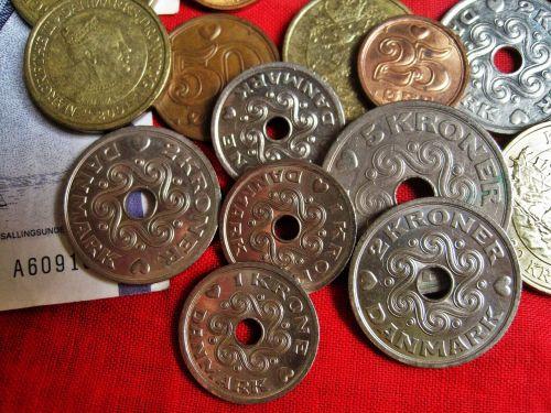 danish coins danish kroner danish currency