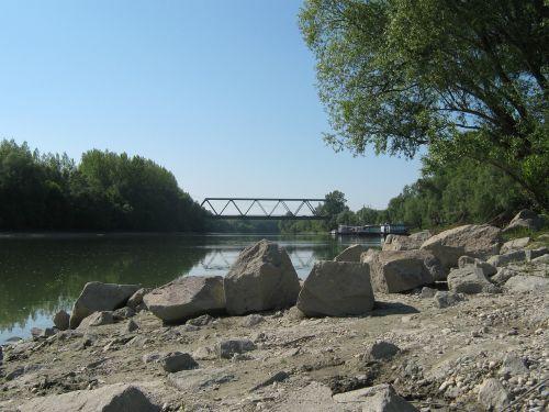 Danube,tiltas,upė,uolos,užtvankos,filialas,dalis,danube,atspindys,vanduo,perėjimas,Danube tiltas,architektūra,statyba