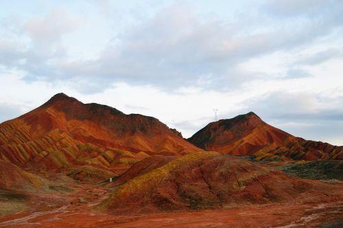 danxia northwest colorful