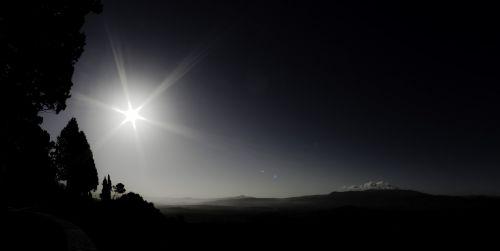 tamsi, naktis, kaimas, gamta, peizažai, Toskana, tamsi
