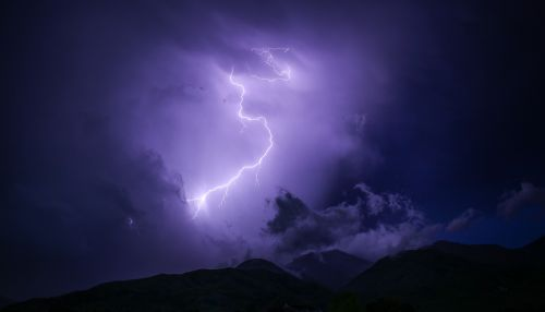 dark lightning mountain