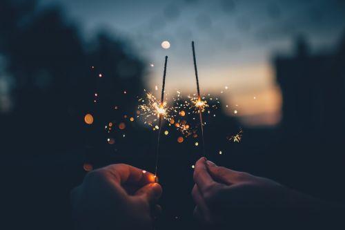 dark fireworks hands