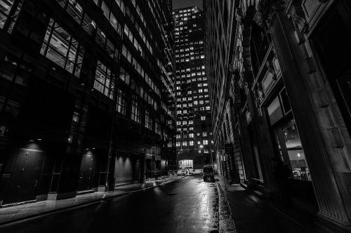 dark black and white architecture
