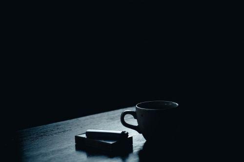 dark table cigarette