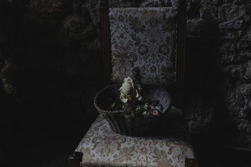 dark basket chair