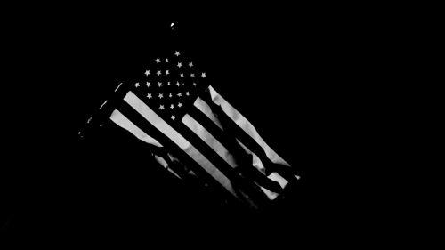 dark black and white cloth