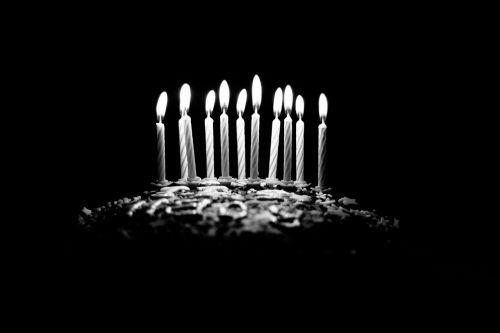 dark birthday cake