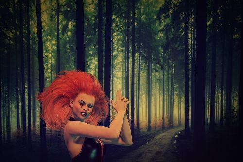 dark fantasy forest