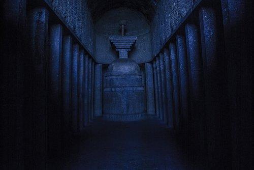 dark  indoors  tunnel